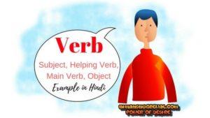 Verb in Hindi Example