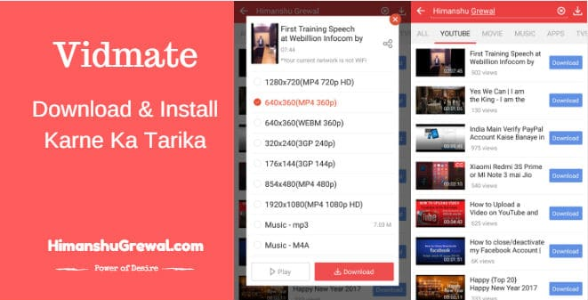 How to Download Vidmate App in Hindi for Free