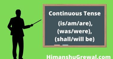 Continuous Tense in Hindi