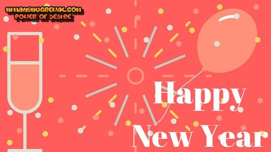 Happy New Year Greeting Card and Wallpaper