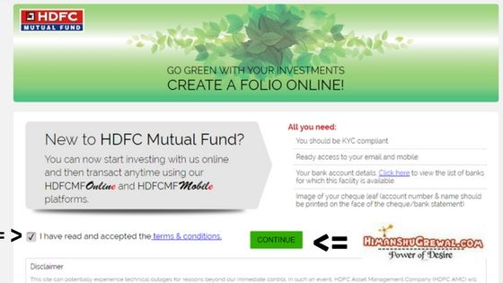 New HDFC Mutual Fund Apply Online