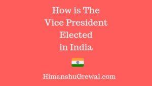 भारत के उपराष्ट्रपति का चुनाव कौन करता है