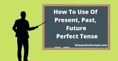 Perfect Tense in Hindi